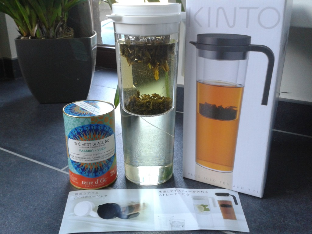 Thé vert glacé & théière Kinto