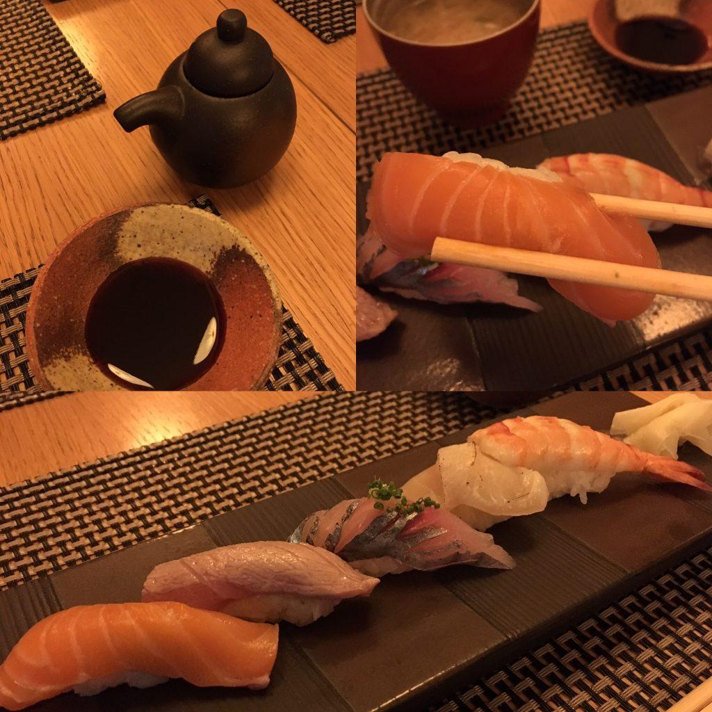 Kamo, Bruxelles, assortiment de sushis
