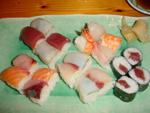 Sushis coupés en deux - Hama Shin - Ixelles