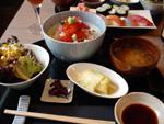 Kamo - Ixelles - Kaïsen don Teishoku: dés de poissons et coquillages crus sur lit de riz