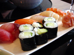 Kamo - Ixelles - Mix de sushis dont un à la coquille Saint-Jacques