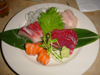 Mix de sashimi: thon rouge, thon gras, saumon, etc