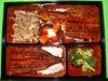 Bento Unagidon, anguille grillée sur lit de riz blanc (1 novembre 2011)