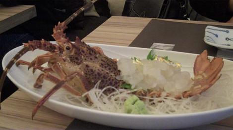Ise ebi to osashimi mori - Langouste fraîche en sashimi