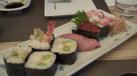 Sushi du chef - Crabe, tempura ebi, otoro
