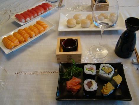 Assortiment de sushis de chez Attrap'Sushi