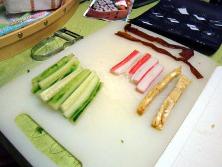 Easy-Sushi :: préparation des ingrédients