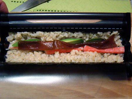 Easy-Sushi - Garniture du rouleau