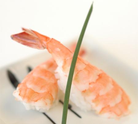 Ebi Nigiri - Sushis à la crevette cuite