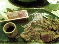 Duo de thons: mi-cuit façon tataki et cru