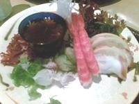 Sunomono :: plats vinaigrés :: algues (Wakame, Kombu, etc) + crevettes & calamars