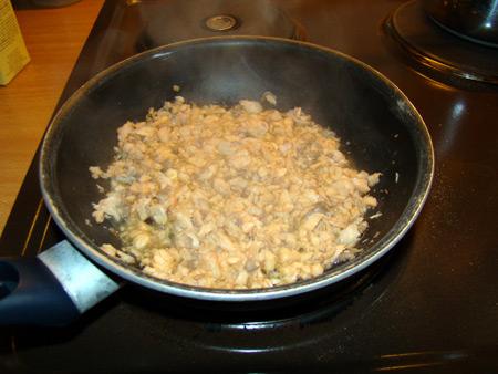 Emieté de saumon: cuisson à la poele