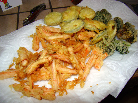 Tempura: cuisson des légumes