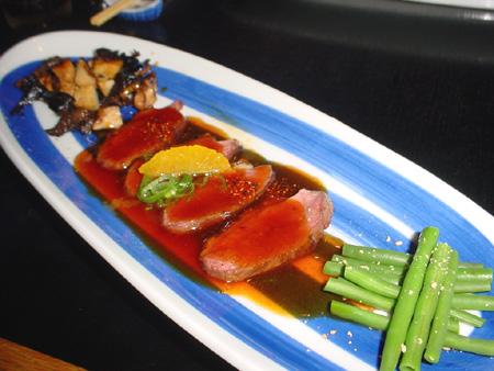 Menu au Samourai - Canard aux champignons