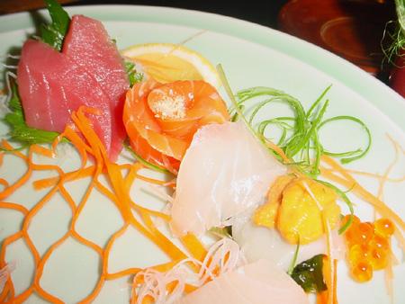 Menu au Samourai - Sashimi