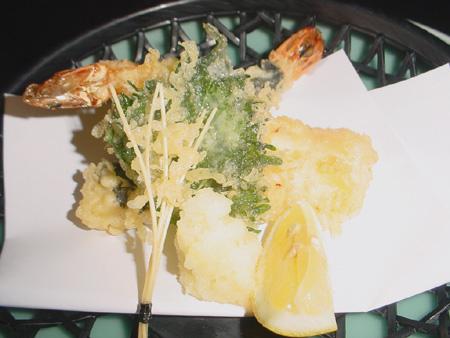 Menu au Samourai - tempura