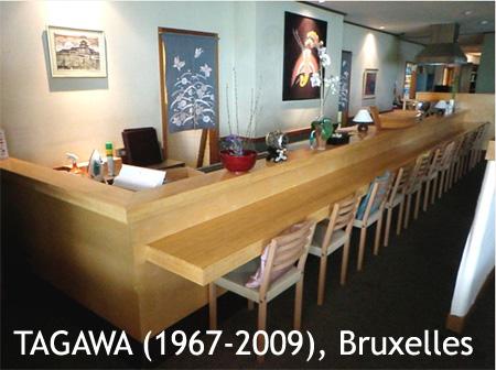 Restaurant japonais Tagawa, Avenue Louise à Bruxelles (Faillite 2009)