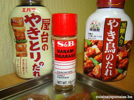Recette de Yakitori - sauce yakitori et shichimi